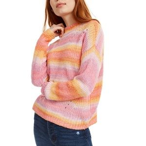Hooked Up by IOT Juniors Striped Sweater
